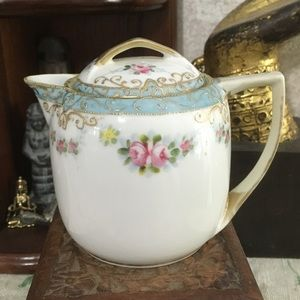VTG Hand Painted Nippon China Creamer with Lid